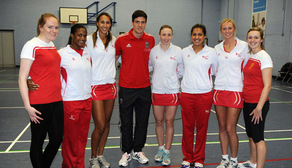 Martin Kelly with the England Netball Girls