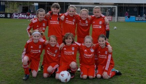 Liverpool's u10s before taking on Everton