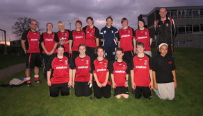 Emily Westwood with the girls Longbridge Ladies U17FC    
