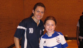 Karen Carney's with the Rainbows, Brownies and Girl Guides Football Festival last weekend at Great Barr Leisure Centre, Birmingham.