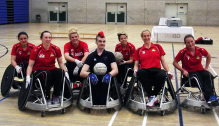 Some of the Belles had a go at Wheelchair Rugby and trained with two of Team GB's paralympians. Read more about it here: http://www.doncasterroversbelles.co.uk/news/belles_take_to_the_chairs.html