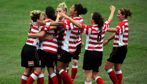 Belles celebrate V Everton