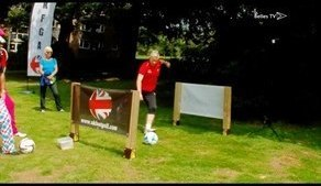 Bethany England Plays FootGolf