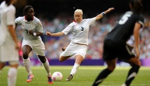 Steph Houghton scores Team GB's first goal