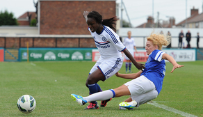 Alex Greenwood dispossesses Eni Aluko