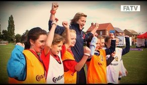 White and Nobbs attend FA Girls' Football Festival