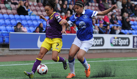 Gabby George in action against Jess Clarke