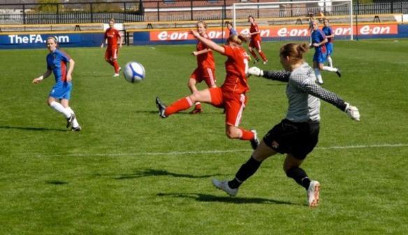 Goalie clears