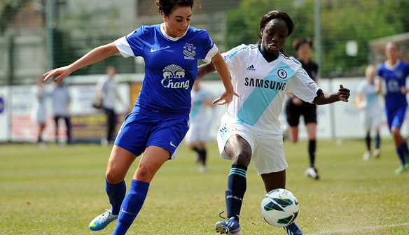 Alex Greenwood tackles Eni Aluko