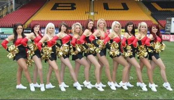 The Bradford Bullettes Cheerleading troupe