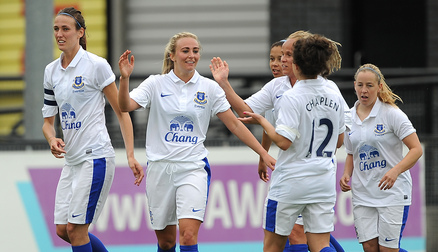 Toni Duggan in action against Chelsea.