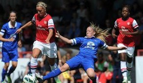 WSL: Arsenal Ladies 5-0 Everton Ladies highlights