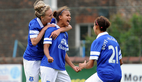 Nikita Parris celebrates her goal against Lincoln