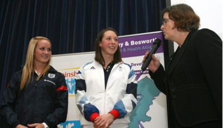 Sophie Bradley at Hinckley and Bosworth Sports Awards
