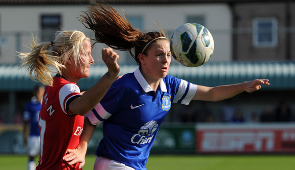 Simone Magill in action against Arsenal