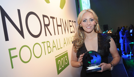 Toni Duggan with her Award
