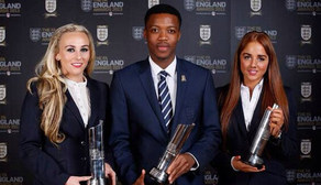 Toni Duggan and Alex Greenwood at the FA England Awards