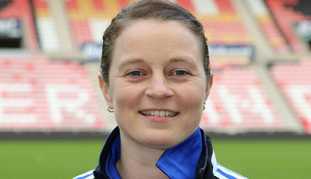 SAFC Ladies head coach, Claire Robinson