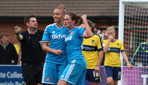 Keira Ramshaw and Kelly McDougall celebrate
