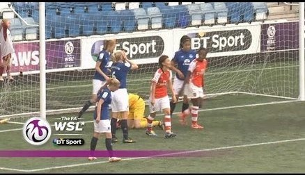 A goal from Alex Scott late on gave the Gunners a 2-1 win over Everton Ladies