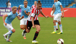 Keira Ramshaw in action against Manchester City