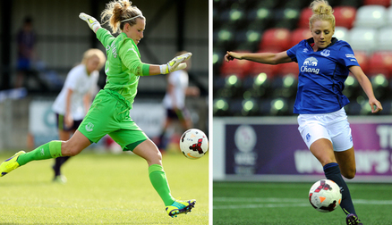 Alex Greenwood and Rachel Brown-Finnis