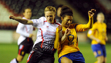 Natasha Dowie grabbed the vital goal to beat Manchester City Women