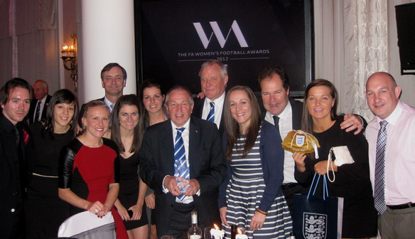 Birmingham Management and Players celebrate being awarded Club of the Year 2012