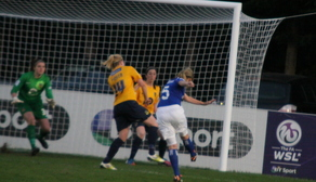 Billie Brooks effort on goal
