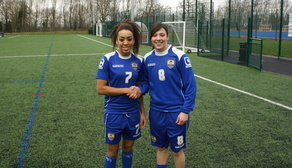Last season's top scorer Jess Clarke welcomes Rachel to the club