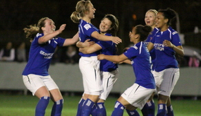 Celebrating Billie Brooks goal