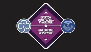 Girl Guide and Everton badge