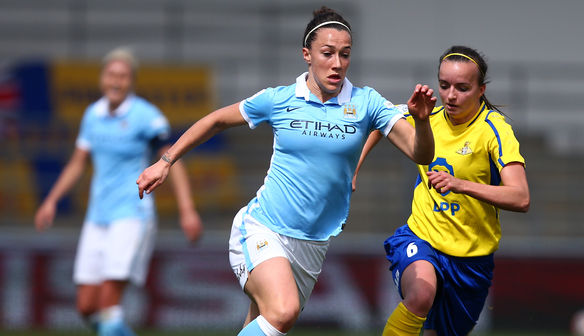 Lucy Bronze delighted as Man City march on in style