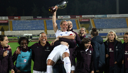 England lift Cyprus Cup for third time.