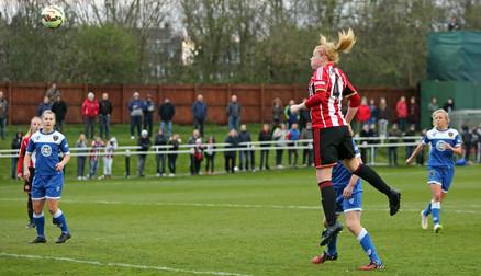Rachel Furness heads the winner against Bristol Academy