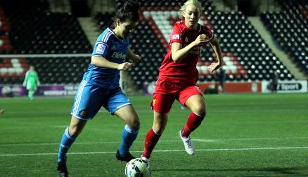 Brooke Chaplen against Liverpool