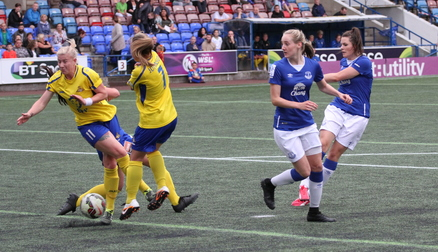 Emily Hollinshead fires in the opener against Doncaster.