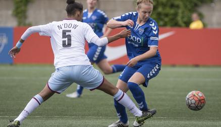 Rachel Lee in action during Durham WFC 3-0 Aston Villa