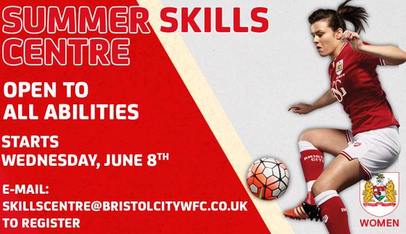 Bristol City Women launch Summer Skills Centre
