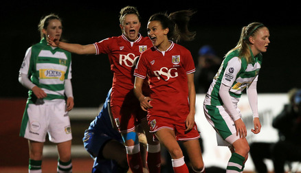 Rosella Ayane celebrates after scoring against Yeovil
