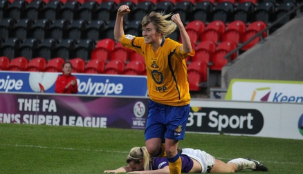 Ashleigh Mills Celebrates V Oxford United