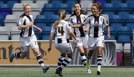 Jess Clarke Celebrates Opening the Scoring Against Liverpool