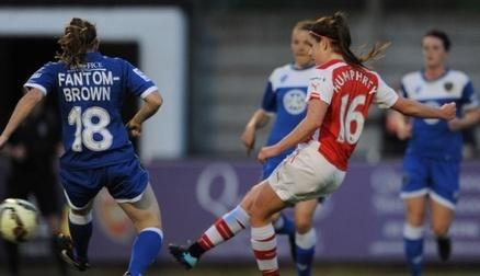 Carla Humphrey scores against Bristol Academy