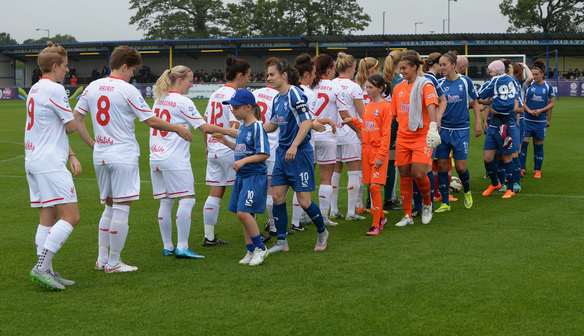 Photo gallery: WSL champions suffer 1-0 defeat to Blues