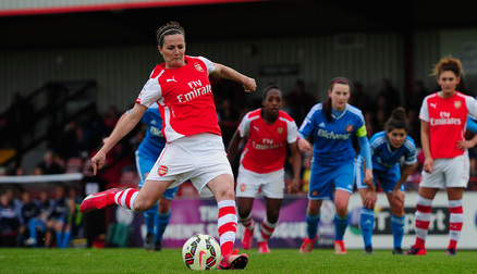 Natalia converts a penalty against Sunderland