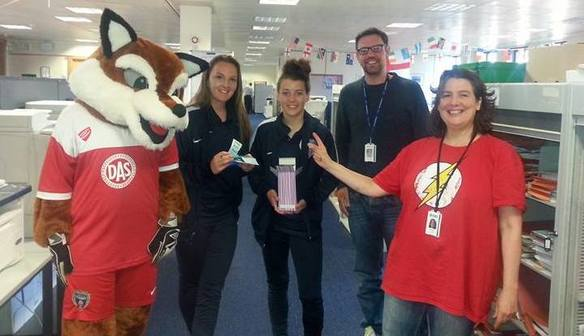 BAWFC help raise over £1,000 for charity