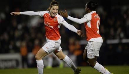 Dominique Janssen scores our opener against Reading FC Women
