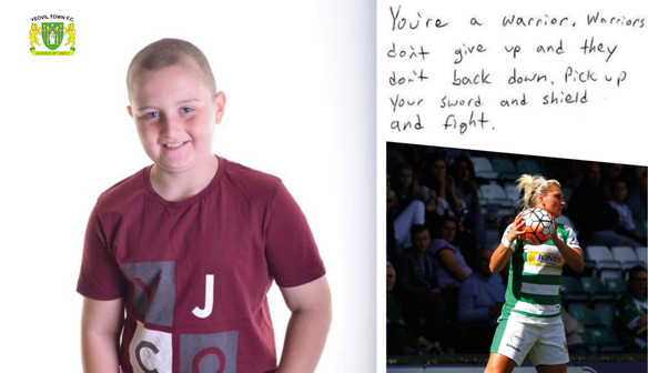 Carlton and Yeovil Town Ladies determined to help 10 year old Lewis Brooke