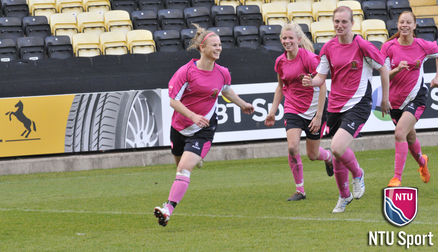 O'Neill playing for NTU at Meadow Lane Photo: Alexandra Johnson