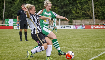 Cheslea Weston in action against Yeovil Town